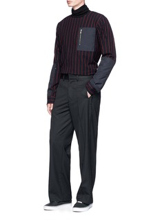 The World Is Your Oyster Raw edge outseam twill pants
