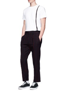 The World Is Your Oyster Stripe wool pants
