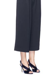 Michael Kors'Becky' velvet slingback sandals