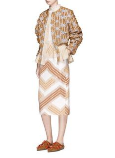 TOTON 'Ratu Boko' stripe fil coupé peplum jacket