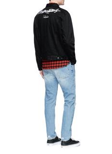The Weeknd 'Starboy' embroidered raw denim jacket