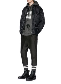 DIM MAK 'Ramsey' logo print tie-dye hoodie