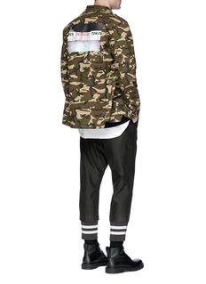 DIM MAK 'Izzy' camouflage print ripstop shirt jacket