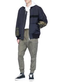 DIM MAK Camouflage print panel padded bomber jacket