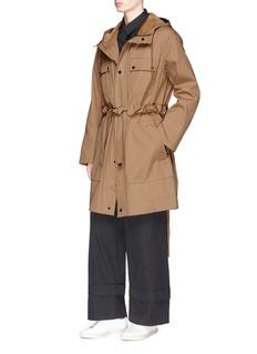 Craig Green Drawstring twill coat
