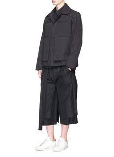Craig Green Detachable collar sash shirt