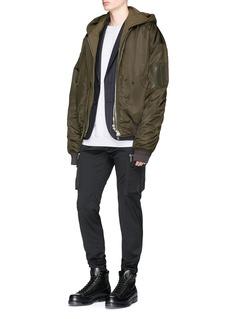 Juun.J Detachable hooded layer bomber jacket