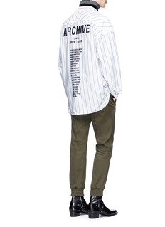 Juun.J 'ARCHIVE' embroidered stripe shirt