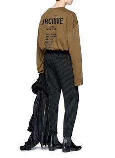 Juun.J 'ARCHIVE' embroidered oversized long sleeve T-shirt