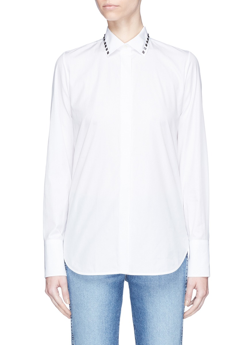 valentino female rockstud untitled 05 noir poplin shirt