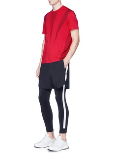 BLACKBARRETT Reflective trim jersey leggings