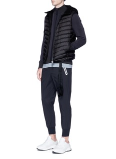 BLACKBARRETT Reflective trim quilted down puffer vest