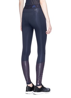 Adidas By Stella Mccartney Abstract houndstooth print Techfit Recovery performance tights