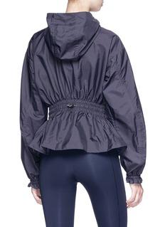 Adidas By Stella Mccartney 'Run' smocked peplum hooded windbreaker