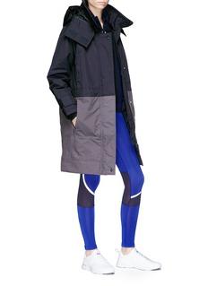 Adidas By Stella Mccartney 'Essential' detachable hood colourblock padded jacket