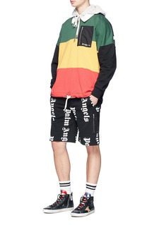 Palm Angels Logo print sweat shorts