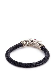 John Hardy Sapphire ruby silver Naga stingray cord bracelet