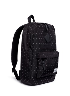 The Herschel Supply Co. Brand 'Heritage' gridlock print canvas mid-volume 14.5L backpack