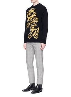 Stella McCartney 'M+NMO' jacquard chunky wool sweater
