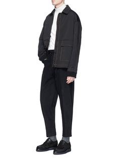 Stella McCartney Buckle belt cropped twill pants