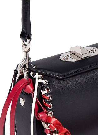 Detail View - Click To Enlarge - Alexander McQueen - 'Box Bag 16' in fringe whipstitch calfskin leather
