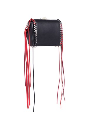 Figure View - Click To Enlarge - Alexander McQueen - 'Box Bag 16' in fringe whipstitch calfskin leather