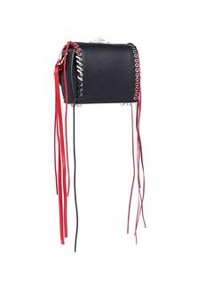 Alexander McQueen 'Box Bag 16' in fringe whipstitch calfskin leather
