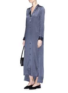 Equipment 'Johanna Maxi' stripe silk satin shirt dress