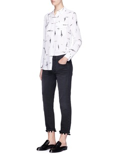 Equipment 'Slim Signature' scribble print silk crepe shirt