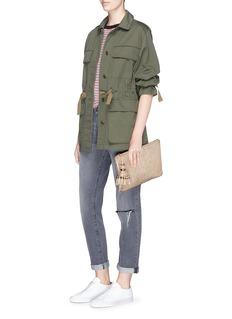 Anya Hindmarch'Georgiana' crinkled metallic leather clutch