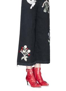 Alexander McQueen Horn heel leather ankle boots