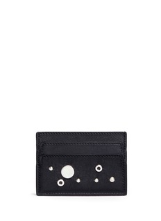 Alexander McQueen Skull eyelet and stud leather card holder