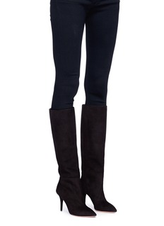 Aquazzura 'Quinn 85' suede knee high boots