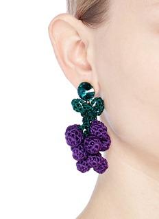 Venessa Arizaga 'Have a Grape Day' rhinestone crochet drop earrings