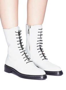 The Row 'Fara' leather combat boots