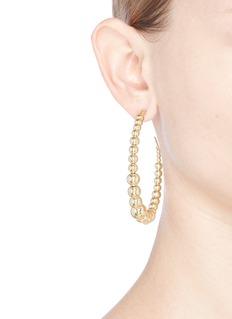 Kenneth Jay LaneBeaded hoop earrings