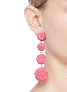 Kenneth Jay Lane 'Carnival' threaded sphere drop clip earrings