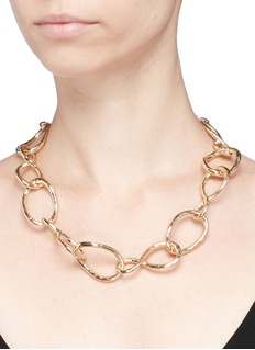 Kenneth Jay Lane Twisted chain link necklace