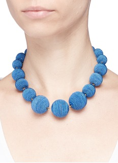 Kenneth Jay Lane Threaded sphere necklace