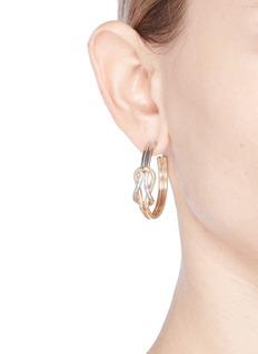 Kenneth Jay Lane Knotted hoop earrings