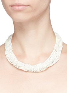 Kenneth Jay Lane Beaded multi strand necklace