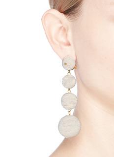 Kenneth Jay Lane'Carnival' threaded sphere drop clip earrings