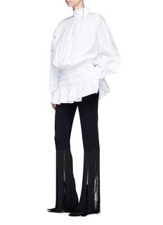 Ellery 'My Muna' cocoon sleeve smocked peplum hem shirt