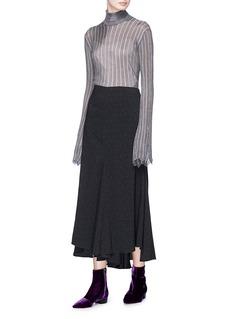 Ellery 'Minted' stripe metallic knit turtleneck sweater