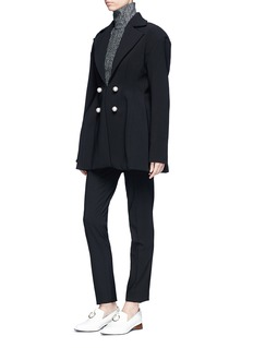 Ellery 'Marilyn' faux pearl embellished suiting jacket