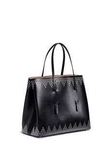 Alaïa 'Vienne' zigzag petal stud leather tote