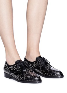 Alaïa Geometric stud leather Derbies