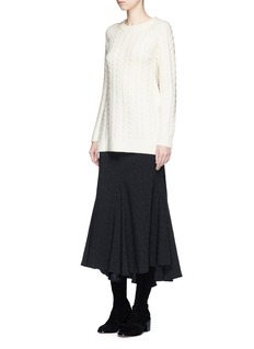 Co Cashmere blend cable knit sweater