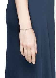 SYDNEY EVAN Diamond 14k yellow gold safety pin charm bead bracelet
