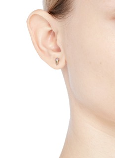 SYDNEY EVAN Sapphire 14k gold small ice cream single earring